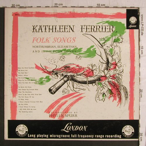 Ferrier,Kathleen: sings engl.Songs&Folk Songs,vg+/vg+, London ffrr(5411), UK/US,  - LP - F6882 - 6,00 Euro