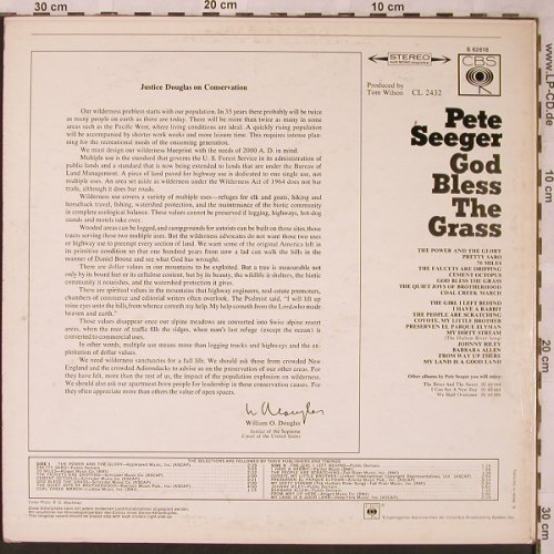 Seeger,Pete: God Bless The Grass, CBS(CBS S 62618), D,  - LP - X2027 - 9,00 Euro