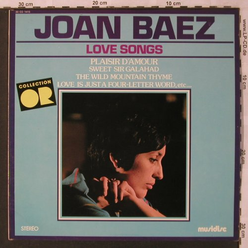 Baez,Joan: Lovesongs,(Collection OR) m-/vg+, Musidisc(30 CO 1415), F, 1977 - LP - X2908 - 5,00 Euro