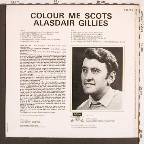 Gillies,Alasdair: Colour me Scots, vg+/m-, Beltona(SBE 165), UK, 1970 - LP - X3196 - 5,00 Euro