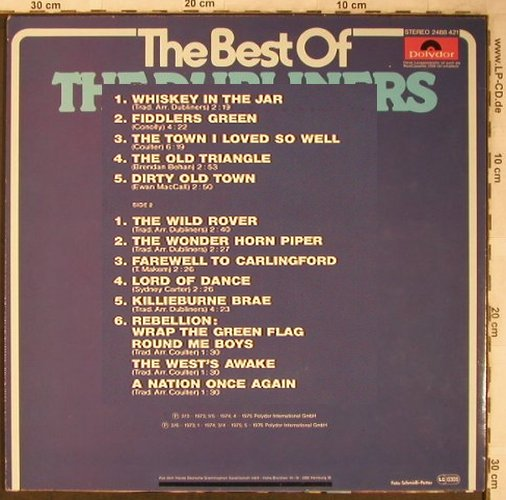 Dubliners: The Best Of the, Polydor(2488 421), D, Ri, 1976 - LP - X5460 - 5,00 Euro