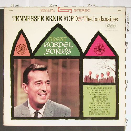 Tennessee Ernie Ford & Jordanaires: Great Gospel Songs,wh.Muster, Capitol(83 690), D, 64 - LP - A9161 - 20,00 Euro