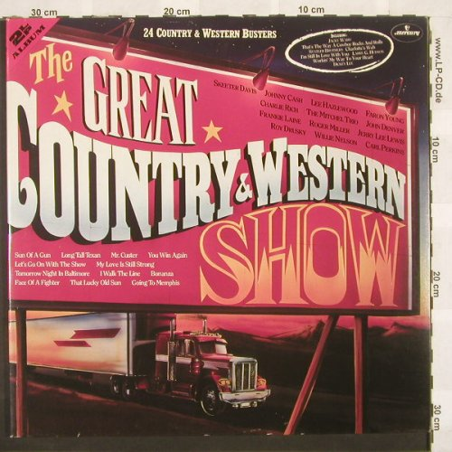 V.A.The Great Country & Western Sho: 24 Tr., Foc, Mercury(6686 033), D,  - 2LP - C268 - 6,00 Euro