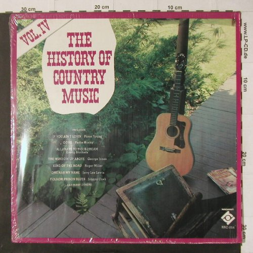 V.A.The History of Country Music: Vol.IV, 15 Tr., Radiant(RRC-1014), US,  - LP - C4750 - 5,00 Euro