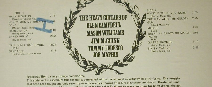 Campbell,Glen / Mason Williams...: The Heavy Guitars, co, m-/vg+, Pickwick(SPC-3203), US,  - LP - C6409 - 7,50 Euro