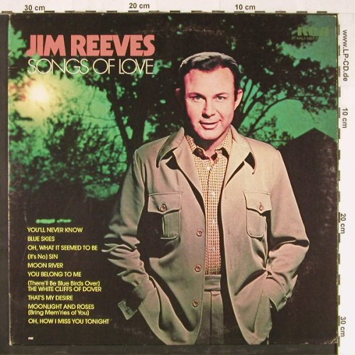 Reeves,Jim: Songs Of Love, RCA(AHL1-1037), US, 1975 - LP - E2338 - 5,00 Euro