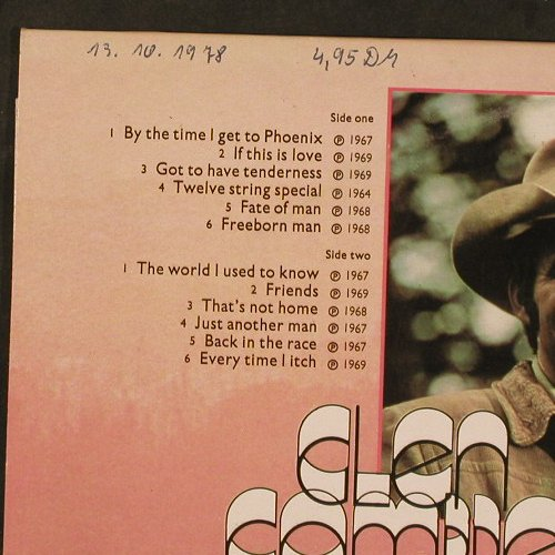 Campbell,Glen: By The Time I Get To Phoenix,woc, Sounds Superb(SPR 90011), UK, 1978 - LP - E2940 - 4,00 Euro