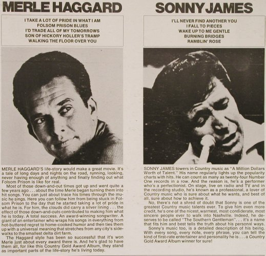 Haggard,Merle/Sonny James: Country Gold Award Album, Capitol(SL-6719), US,  - LP - E4233 - 6,00 Euro
