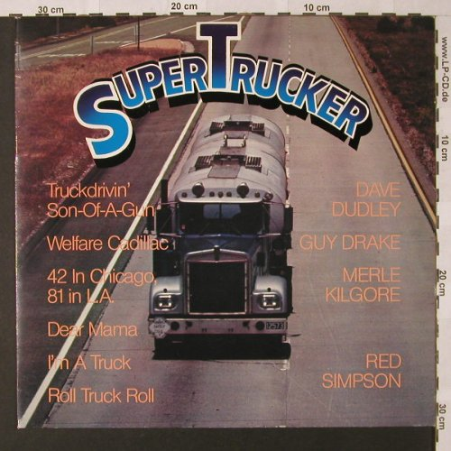 V.A.Super Trucker: Dave Dudley..Red Simpson, Look Back(210.013), , 1982 - LP - E9134 - 4,00 Euro