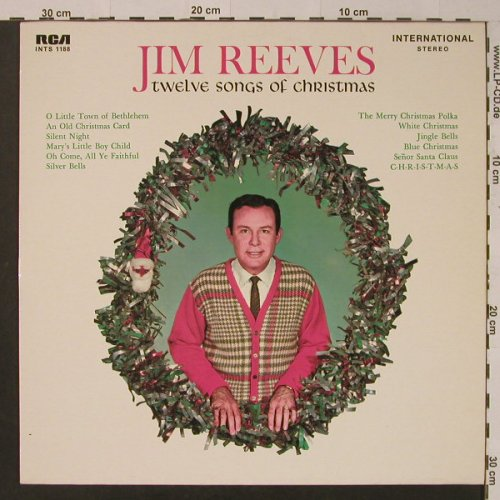Reeves,Jim: Twelve Songs Of Christmas, Ri, RCA(INTS 1188), D, 1964 - LP - F3958 - 5,00 Euro