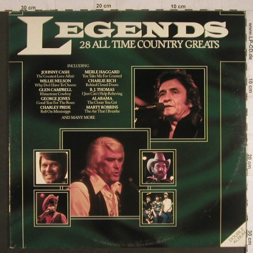 V.A.Legends: 28 All Time Country Greats, Foc, StarblendSolitaire Coll.(SLTD 8), UK, 1983 - 2LP - F6107 - 5,00 Euro
