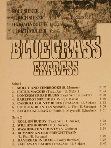 Bluegrass Express: Same, WAM(MLP 15.545), D,  - LP - F7942 - 7,50 Euro