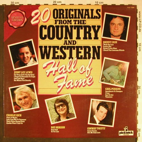 V.A.20 Originals Country-Western: Hall Of Fame, Pickwick(PLE 7006), UK,  - LP - H2167 - 4,00 Euro
