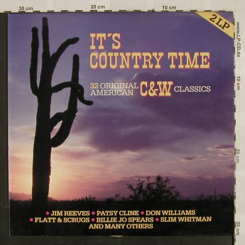 V.A.It's Country Time: 32 Orign. American C&W Classics, SR, Club Ed.(66.359.1), EEC/B,  - 2LP - H2734 - 5,50 Euro