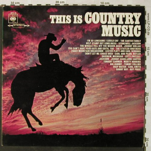 V.A.This Is Country Music: Cash/Carter...Johnny Dollar, CBS(SPR 20), D, 1967 - LP - H5333 - 4,00 Euro