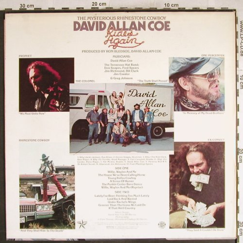 Coe,David Alan: Rides Again, Columbia(34310), US, 1977 - LP - H7728 - 7,50 Euro