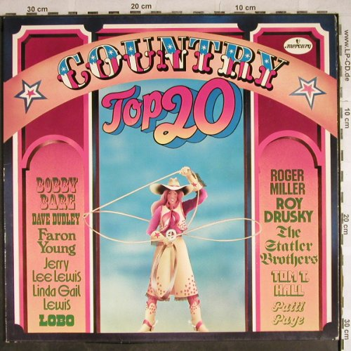V.A.Country Top 20: Faron Young...Dave Dudley, Mercury,Wh.Muster(6641 049), D, 1972 - 2LP - H8674 - 5,00 Euro