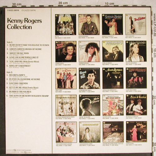 Rogers,Kenny: Collection, MFP(1A022-58094), NL, 1980 - LP - H8675 - 4,00 Euro