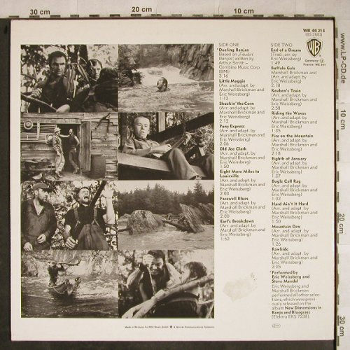 Weissberg, Eric and Steve Mandell: Dueling Banjos Deliverance, Ri,stoc, WB(WB 46 214), D,m-/vg+, 1973 - LP - H9198 - 5,00 Euro