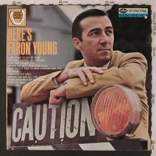 Young,Faron: Here's Faron Young, vg+/m-, Mercury(134 573 MFY), NL,  - LP - X2765 - 5,50 Euro
