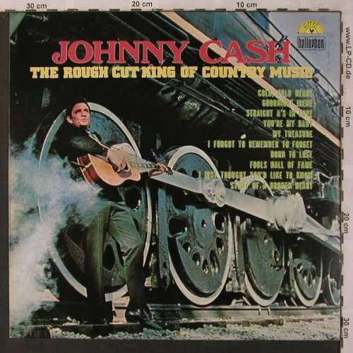Cash,Johnny: The Rough Cut King Of Country Music, Bellaphon/Sun(BI 1578), D, 1970 - LP - X2910 - 7,50 Euro