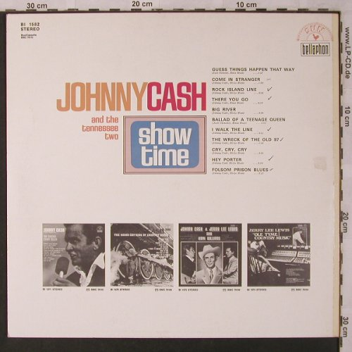 Cash,Johnny and the Tennessee Two: Show Time '69, woc, Bellaphon(BI 1582), D,  - LP - X2918 - 7,50 Euro