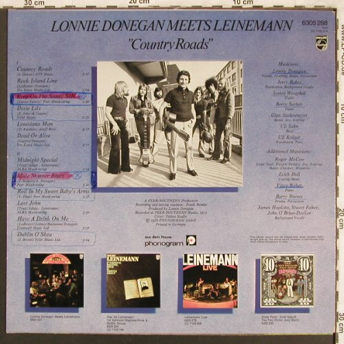 Donegan,Lonnie meets Leinemann: Country Roads, WOC,WOL, Philips(6305 288), D, 1976 - LP - X3753 - 5,00 Euro
