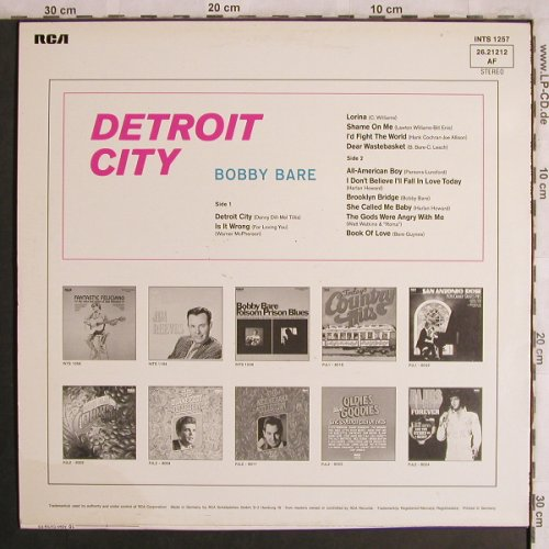 Bare,Bobby: Detroit City, RCA International(26.21212 AF), D,  - LP - X4439 - 5,50 Euro