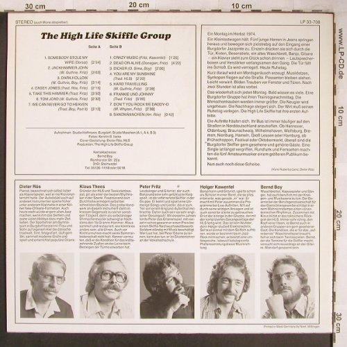 High Life Skiffle Group: Same, (Privat Press)(LP 33-708), D, 1974 - LP - X4825 - 9,00 Euro