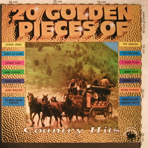 V.A.20 Golden Pieces of CountryHits: George Lewis...Jerry Lee Lewis, Astan(20013), DK,  - LP - X5060 - 4,00 Euro