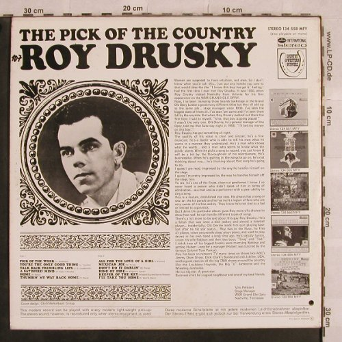 Drusky,Roy: The Pick Of The Country, Mercury(134 558 MFY), NL,co,  - LP - X559 - 5,50 Euro