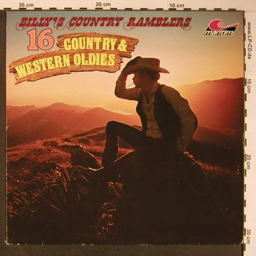 Billy' Country Ramblers: 16 Cpountry & Western Oldies, Maritim(47 640 NU), D, 1980 - LP - X5884 - 5,50 Euro