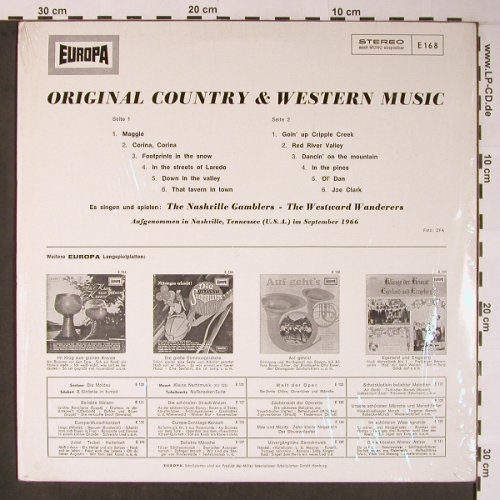 Nashville GamblersWestward Wanderer: Original Country & Western Music, Europa(E 168), D, Ri, 1966 - LP - X5954 - 5,00 Euro
