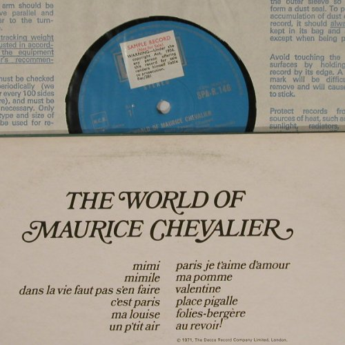 Chevalier,Maurice: The World Of, Promo ,Stereo, Decca(SPA-R 146), UK, 68 - LP - B4465 - 7,50 Euro