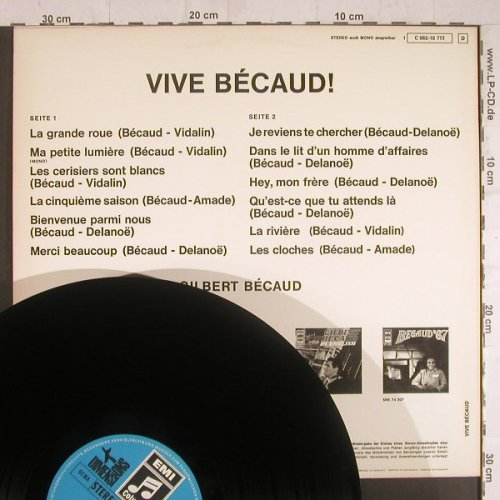 Becaud,Gilbert: Vive Becaud!, EMI Columbia(Dimension)(C 062-10 712), D,  - LP - F6155 - 7,50 Euro