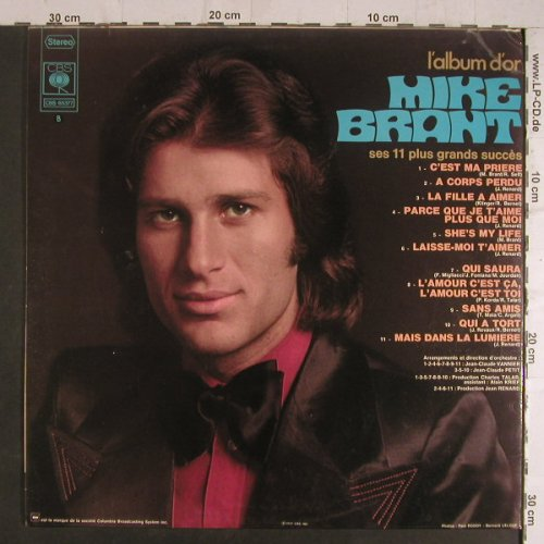 Brant,Mike: L'Album D'Or, Foc, m-/vg+, CBS(65 377), NL, 1972 - LP - F6234 - 5,00 Euro