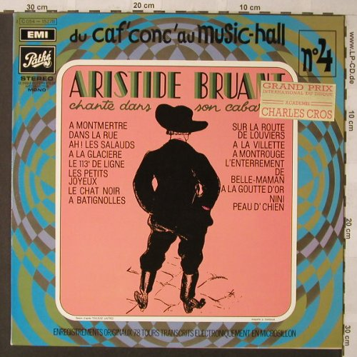 Bruant,Aristide: Du Caf'conc'Au Music-Hall No.4, Pathe(C 054-15278), F,  - LP - F901 - 7,50 Euro