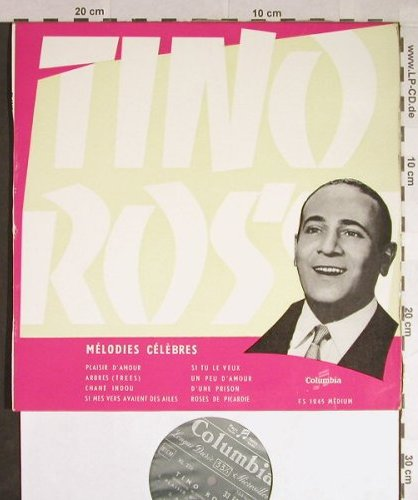Rossi,Tino: Melodies Celebres, vg+/m-, Columbia(33 FS 1045), F,  - 10inch - H179 - 5,00 Euro