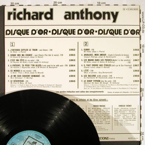 Anthony,Richard: Disque d'Or de , Foc, Columbia(C 064-16049), F, 1972 - LP - H1858 - 7,50 Euro