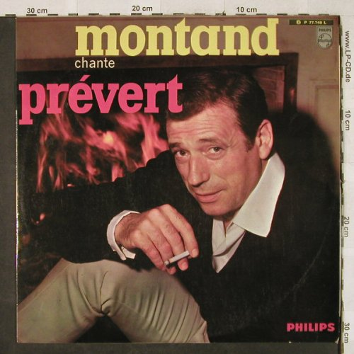 Montand,Yves: chante Jacques Prevert, vg+/m-, Philips(P 77.740 L), F,  - LP - H3334 - 5,00 Euro