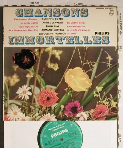V.A.Chansons Immortelles: Lucienne Boyer...Armand Mestral, Philips(B 76.541 R), F,vg+/m-,  - 10inch - H9061 - 5,00 Euro