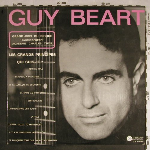Guy Beart: Les Grands Principes Qui Suis-Je ?, Disques Temporel(GB 000001), F,vg+/vg+,  - LP - H9088 - 5,00 Euro