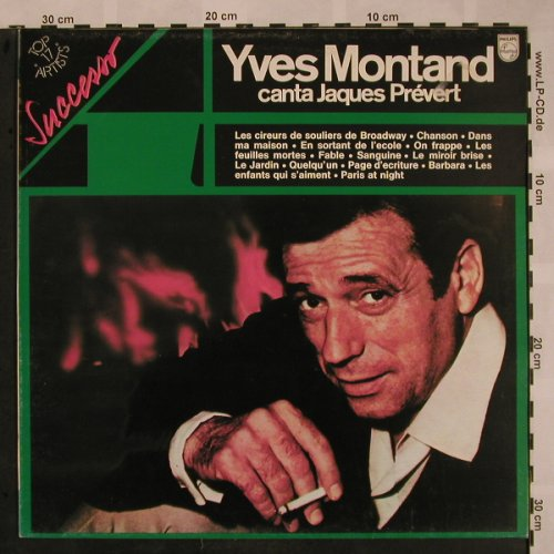 Montand,Yves: Canta Jaques Prévert, Philips(9279 039), I, Ri,  - LP - X1011 - 5,00 Euro