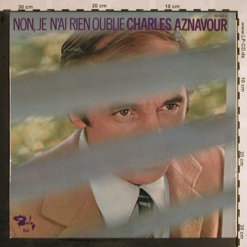 Aznavour,Charles: Non,Je N'ai Rien Oublie, m-/vg+, Barclay(80.422 U), F,  - LP - X1083 - 5,50 Euro