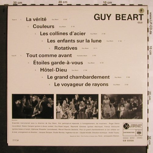 Guy Beart: La Vérité, Foc, Disques Temporel(GB 00004), F, 1968 - LP - X1177 - 7,50 Euro