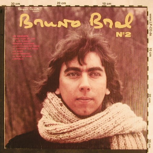 Brel,Bruno: Volume No.2, Jacques Canetti(48.882), F, 1978 - LP - X1306 - 7,50 Euro