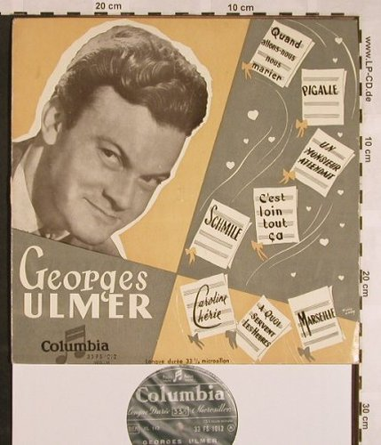 Ulmer,Georges: Same ( Quand allons.nous marier), Columbia(33 FS 1012), F, stoc,  - 10inch - X1423 - 9,00 Euro