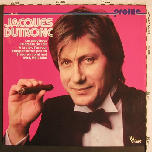 Dutronc,Jacques: Same, Profile Serie, Vogue(6.24273), D, 1970 - LP - X4037 - 6,00 Euro
