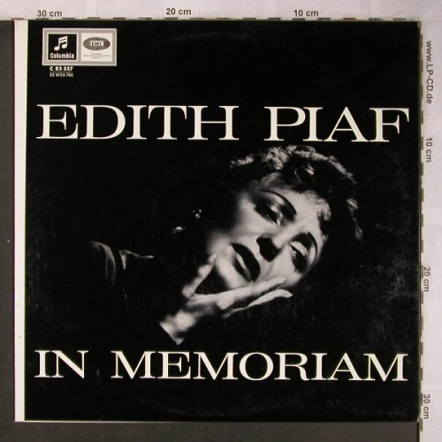 Piaf,Edith: In Memoriam, Columbia(83 557), D,  - LP - X5086 - 9,00 Euro