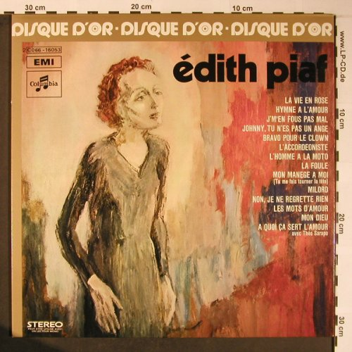 Piaf,Edith: Le Disque D'or de,Foc, Columbia /EMI(C 066-16053), F, 1972 - LP - X5922 - 9,00 Euro